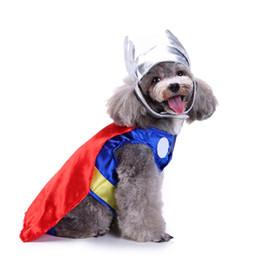 $enCountryForm.capitalKeyWord UK - Divien Shield Superman Cosplay Cloth Dog Costume Superman Costume Set Plus Superman Hat Cute Pet Dog Dress Up Best