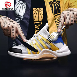 high top running shoes for women 2019 - ALDOMOUR 2018 Sneakers Men Knit Upper Breathable Sport Shoes Shoes High Top Running For Men Women discount high top runn