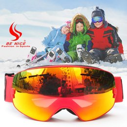 Discount ski goggles kids - Benice Kids Snow Ski Goggles Glasses UV400 Anti-fog Safety Snowboarding Skiing Goggles for 4-15 Years Old Children Kids