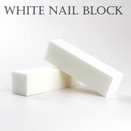 Vente en gros Bonne Qualité En Gros Blanc Polissage De Ponçage De Fichiers Bloc Pédicure Manucure Soins Ongles Lime Tampon pour Salon Livraison gratuite