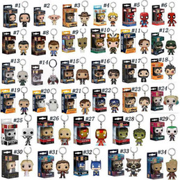 game thrones pop 2019 - Funko Pop Marvel Super Hero Keychain Figure Deadpool Captain America The Walking Dead Game of Thrones Hulk Spiderman Key