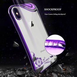 Crystal Clear Phone Cases NZ - Luxury Bling Crystal Diamond Bowknot Case For iPhone xs max xr X 8 7 6 6S Plus Soft TPU Cover Glitter Plating Slim Clear Phone Cases Shell