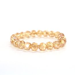 $enCountryForm.capitalKeyWord Australia - 2018 new fashion trend 8MM single circle ladies gold crystal bracelet girlfriends gift women Yoga bracelet pulsera de mujer