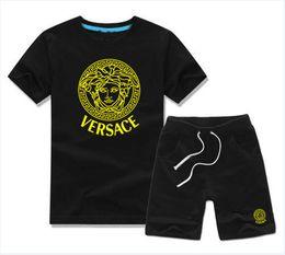 HOT designer brand Baby Boys Girls Summer Suit Baby Sport Suit 2Pcs Set boy Kids Sets Kids T-shirt And Pant Children Cotton Sets on Sale