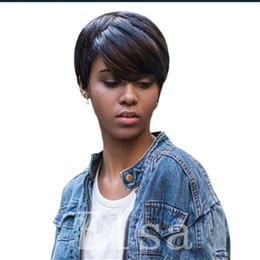 $enCountryForm.capitalKeyWord UK - Wholesale Fashions Celebrity short cut Human hair wigs for Black women glueless pixie short hair wigs
