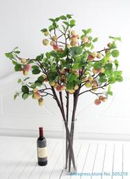 Artificial Plastic Green Apples Australia - 100 Cm Beautiful Artificial Plastic Apple Tree Branch Home Decoration Plant Decorative Flowers & Wreaths Party Supplies