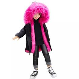 $enCountryForm.capitalKeyWord UK - Brand Designer Girls Fur Coat Winter Kids Jackets & Coats Removable Faux Fox Fur Liner Children's Thick Warm Long Jacket Parkas