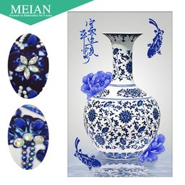 Mosaic China Australia - Meian,Special Shaped,Diamond Embroidery,China,Porcelain,5D,Diamond Painting,Cross Stitch,3D,Diamond Mosaic,Decoration,Christmas Y18102009