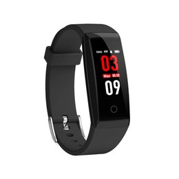 $enCountryForm.capitalKeyWord Australia - OTA Automatic Heart Rate Monitor Smart Bracelet Pedometer Tracker Smart Watch Color Screen Wristwatch For iPhone Android Smart Phone Watch