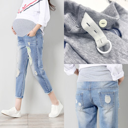 8f8c2cebf6cb64 Jeans Maternity Pants For Pregnant Women Clothes Trousers Nursing Prop  Belly Legging Pregnancy Clothing Overalls Ninth Pants New