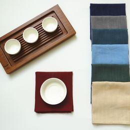 Trees food online shopping - Solid Color Cotton Linen Kitchen Tea Towels Table Napkins Trees Tablecloth Food Photograph Background Linen Linen Tea Towel cm MMA696