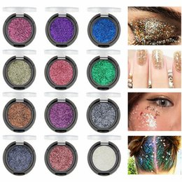 loose cosmetic glitter 2020 - MK 12 Colors Eyeshadow Eye Makeup Glitter Powder Loose Shimmer Pigment Cosmetic Lips Face Nails Body Glitter Art Decor M