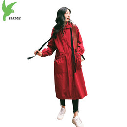 Spring New Women's Loose Windbreaker Cintura Long Student Tooling Trench Sweet Casual Mujer rompevientos Personalidad Moda Abrigo