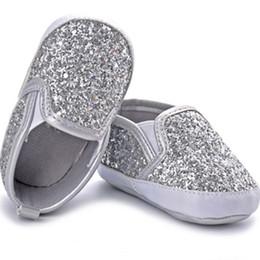 $enCountryForm.capitalKeyWord UK - Sequins Baby Girl Boy Shoes Cute Silver Color First Walker Shoes for Baby Soft Toddler Newborn Sapatos Infantil Menina 0-1