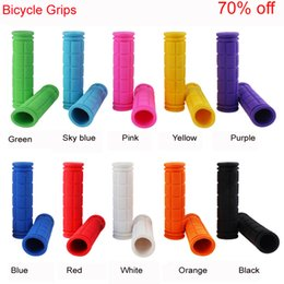Bicycling Gear UK - Bicycle Handlebar Grips Soft Rubber Cycling X M Mountain Bike Scooter Fixed Gear Bar End Parts Accessory