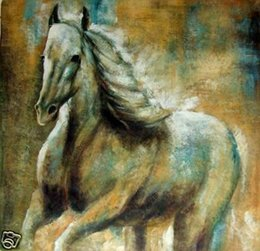 $enCountryForm.capitalKeyWord Australia - Handpainted Modern Horses Animals abstract oil painting Reproduction Canvas Wall Art on canvas Living Room Home Office Decor,Multi Sizes S28