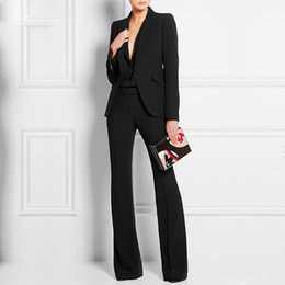 $enCountryForm.capitalKeyWord Canada - Women Pant Suits Ladies Custom Made Office Business Suits JACKET+PANTS+VEST New Hot Tuxedos