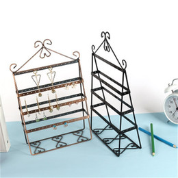Wholesale new types dress for sale – halloween Bardian Jewelry Display Stand Solid Metal Earrings Holder Multi Functional Bedroom Dressing Table Storage Racks New Arrival md dd