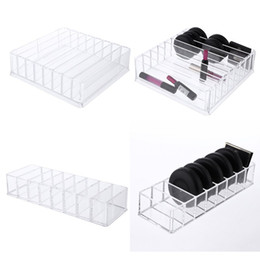$enCountryForm.capitalKeyWord Australia - Clear Acrylic Blush Powder Household Cosmetics Storage Box Lipstick Holder Makeup Organizer Cosmetic Makeup Tools Case