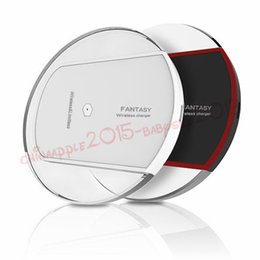 Wholesale Wireless Charging Pad Qi Charger Dock with Design Crystal Led Light for samsung s3 s5 s6 s7 note for iphone htc