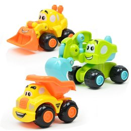up toys NZ - Random Color Clockwork Wind Up Cartoon Mini Engineering Car Toy Kid Early Education Developmental Puzzle Toy wholesale