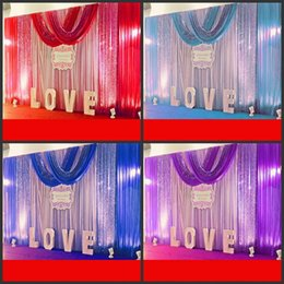Discount photo booth backdrops - White ice silk Wedding Backdrop Curtains Simple Design Swag Satin party backgroundd drape curtain wedding decoration 10f