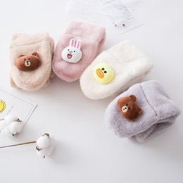 Pink rabbit fur scarf online shopping - 2018 autumn and winter new Japanese and Korean children s scarves cartoon bear rabbit plush autumn and winter warm collar