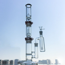 water pipe build Australia - Water Pipes with Ash Catcher 3 Chambers Build Bong Plastic Keck Ice Pinch Showerhead Honeycomb Disc Perc Dab Oil Rigs Glass Bongs WP522
