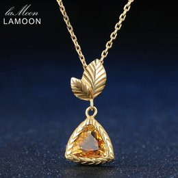 $enCountryForm.capitalKeyWord NZ - LAMOON 7mm 1.3ct 100% Natural Citrine 925 Sterling Silver Jewelry Chain Pendant Necklace S925 LMNI012Y1882701