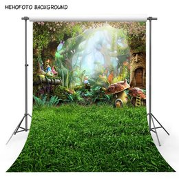 fairy photo background 2019 - 5X7ft Art fabric photography backdrops fairy tale dreamlike nature forest backdrop vinyl fotografia backgrounds for phot