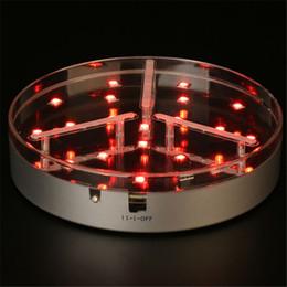 6inch Round 19 LED RGB Multicolors, base de florero de vidrio, escultura de hielo de centro de mesa en venta