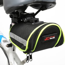 Light bike bags online shopping - Bicycle bags cycling MTB bike tail mobile phone pack Reflective Light rainproof Quick release back bag