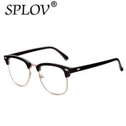 ca87402a78c High Quality Half Metal Eyeglass Frames Men Women Brand Designer Reading  Mirror Eyewear Optical Glass gafas De Classic