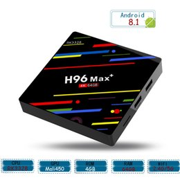 Android Media Player Quad Australia - 4GB 64GB TV Box Android 8.1 RK3328 Quad Core 64bit Smart Mini PC Dual Wifi 4K Streaming Media Player H96 Max+ TV Boxes 4G 64G