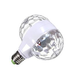 LMCO 6W E27 RGB хрустальный шар вращающийся светодиодный этап лампочка двойная головка для клуба DJ диско партии