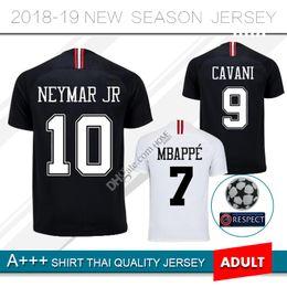 7834af8b0 NEW 2018  7 MBAPPE Soccer Jersey 18 19 Paris Third Black White CAVANI 2019  PSG Football Shirts CHAMPIONS LEAGUE Maillot de football Uniform