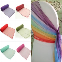 TexTile free online shopping - New Design x275cm Wedding Organza Chair Cover Sashes Bow Sash Party Banquet Decor Colors Home Textiles By