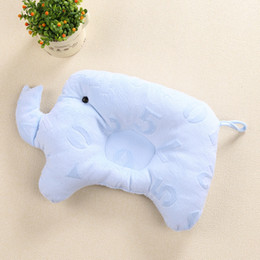 protection baby 2018 - Baby Shaping Pillow Soft Cotton Lovely Cartoon Sleep Head Positioner Anti-rollover Elephant Head Pillow Protection of Ne