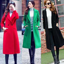 Womens Outwear Jackets Canada - 2018 Womens Fashion Autumn Winter Long Woolen Coat Overcoat Parka winter jacket women windbreaker Outwear Cardigan