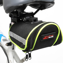 bike car seats 2019 - Bicycle Tail Bag Cushion Kit Saddle Bag Waterproof Bike Seat Bags Pouch Riding Equipment Road Bikes City Cars cheap bike