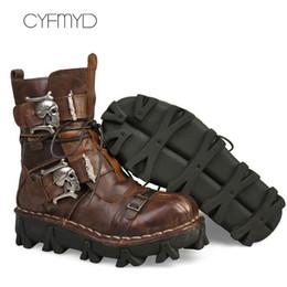 20258c4af5a Plus size 11.5-16 fashion men boots genuine leather winter warm metal  decoration designer martin boots man male shoes