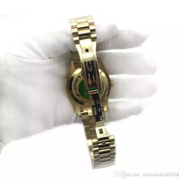 Men Wrist Watches Date Australia - Gold President Day-Date Sapphire Cystal Geneva Men Watches Automatic Mechanical Movement Male Wrist Watch 41mm