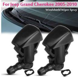 2pcs voiture avant pare-brise essuie-glace jet d'eau jet laveuse buse pour jeep grand cherokee 2005-2010 55372143-AB