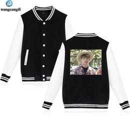 Cool Sweatshirt Jackets NZ - 2018 BTS Jungkook Hawaii Cool Baseball Jacket Men Women Outwear Coat Sweatshirt College Style Uniform Hoodies Plus Size 4XL