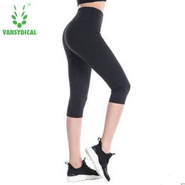 $enCountryForm.capitalKeyWord NZ - Women High Elastic Capri Tights Running 3 4 Length Fitness Yoga Pants Gym Exercise Quick Dry Stretch Sports Trousers
