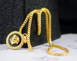 $enCountryForm.capitalKeyWord Australia - linlin Good Quality Celebrity design Letter Gold Head necklace Silverware Fashion Metal Letter Gold Pendant necklace Jewelry With Box