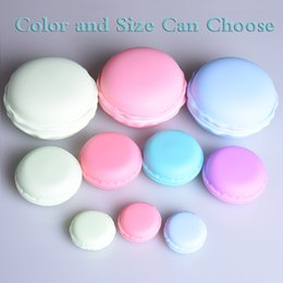 $enCountryForm.capitalKeyWord Canada - Portable Candy Color 3 size Cute Macarons Jewelry Ring Necklace Carrying Case Earphone Organizer Storage Box Case Carrying Pouch