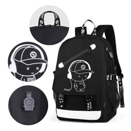 $enCountryForm.capitalKeyWord Canada - Student School Backpack Anime Luminous USB Charge Laptop Computer Backpack For Teenager Anti-theft Boys School Bag A-29