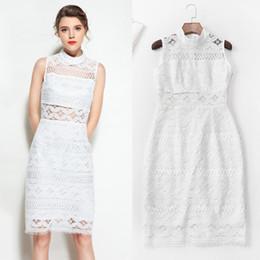 e78964b7731c8 2018 fashion women one piece dress brand designer dress sexy runway dresses  hollowout sleeveless lace dress white 84795