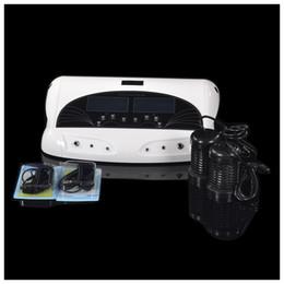 Foot Spa Machines Australia - 2 Arrays Detox Ionic Cleanse Foot Bath Spa with Far Infrared Waist Belt Water Detoxification Foot health Care Salon Machine